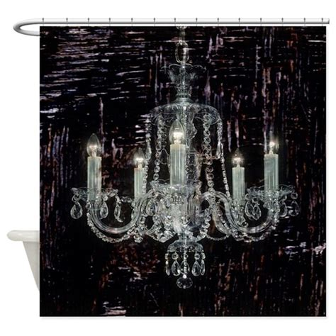 chandelier shower curtain rustic country vintage chandelier shower curtain by