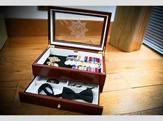 First Parade Walnut Glazed Lid Medal Box The Medal Box