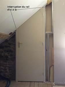 Poser Bloc Porte Entre 2 Murs : poser un bloc porte sous un rampant de toiture reussir ~ Dailycaller-alerts.com Idées de Décoration