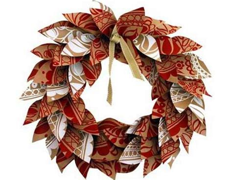 hand made christmas out of paper home dzine craft ideas paper wreath