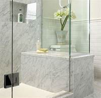 white marble bathroom White Marble Bathroom - Traditional - Bathroom - other metro - by The Sky is the Limit Design
