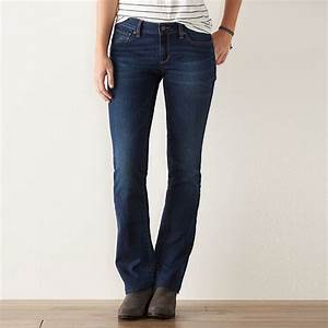 Women 39 S Sonoma Goods For Life Curvy Fit Slim Bootcut Jeans