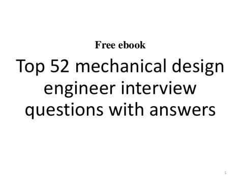 top  mechanical design engineer interview questions