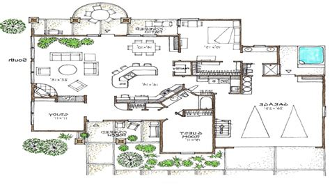 efficiency home plans open floor plans 1 space efficient house plans