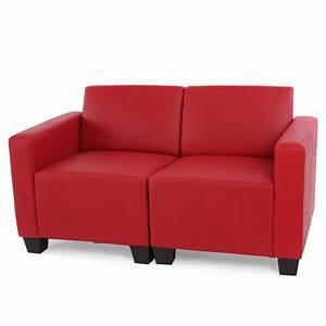 Kunstleder Couch Schwarz : modular zweisitzer sofa couch lyon kunstleder schwarz creme rot ebay ~ Indierocktalk.com Haus und Dekorationen