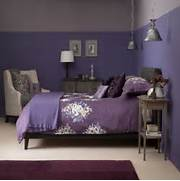 Dusky plum bedroom wit...