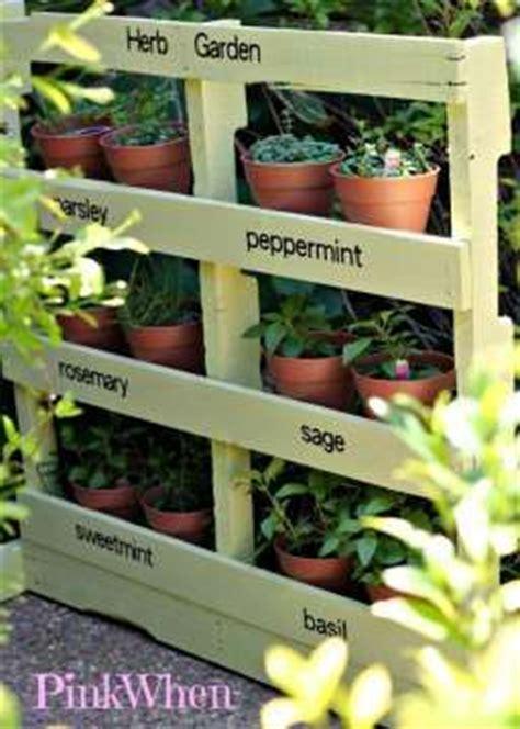 17 best ideas about herb garden pallet on