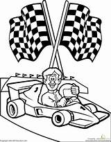 Race Driver Coloring Cars Printable Drawing Worksheet Racing Rac Sheet Colouring Cliparts Xyz Getdrawings Running Library Clipart sketch template