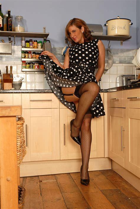 Hot Milf In Polka Dot Dress And Retro Nylon Xxx Dessert