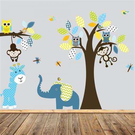 stickers chambre bébé jungle stickers chambre bébé idées inspirations tendances