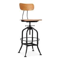 toledo style bar stool black 64 74cm cult uk