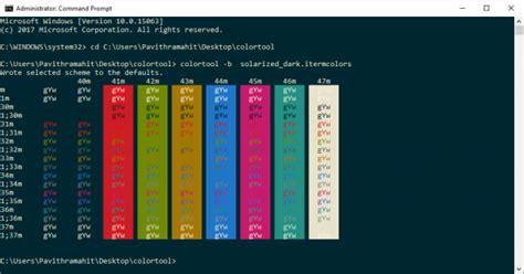 windows color scheme change color scheme of command prompt with microsoft s