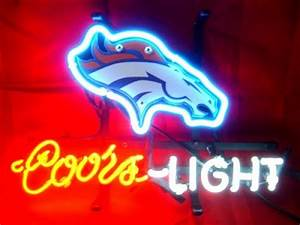Wiki Neon Sign Blog NFL DENVER BRONCOS FOOTBALL COORS