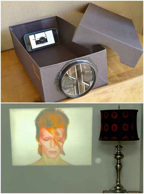 diy iphone projector macgyver a smartphone projector out of a shoebox and