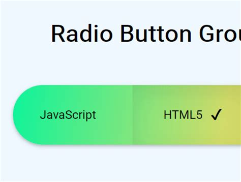 radio input based toggle button group with pure css css script
