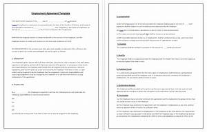 employment agreement template tips guidelines With terms of employment contract template