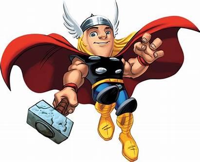 Squad Marvel Hero Thor Super Superhero Clipart