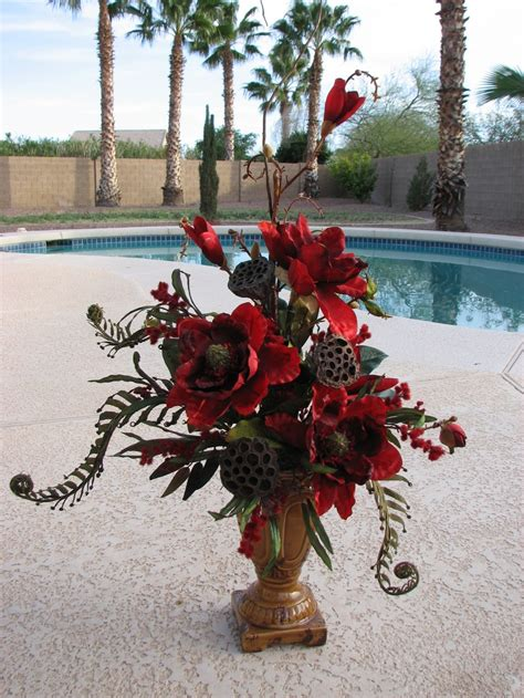 red magnolia arrangement  vickie novak love
