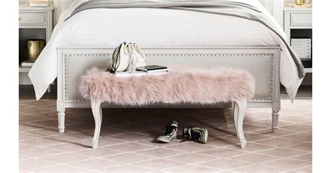 faux fur bench  pieces  rh teen popsugar home
