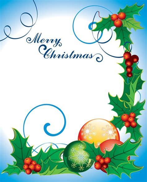 christmas page borders  microsoft word   vector