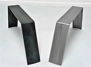Table Pied Epingle : pied de table et table basse en metal brut ou peint ~ Edinachiropracticcenter.com Idées de Décoration