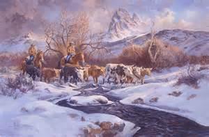 Cowboy Western Paintings Cattle