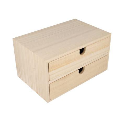 meuble a tiroirs en bois meuble en bois 2 tiroirs artemio 24x16x13 3 cm la fourmi creative