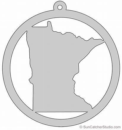 Minnesota Outline State Printable Pattern Shape Stencil