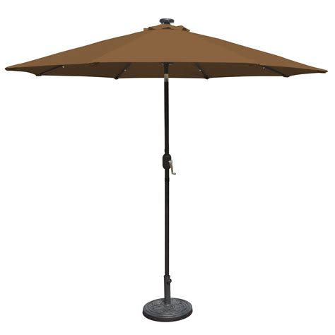 16 9 ft patio umbrella with solar lights 7 ft