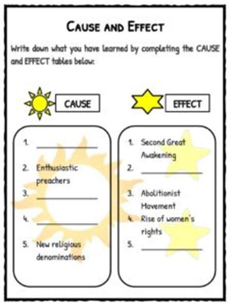 great awakening facts worksheets  kids