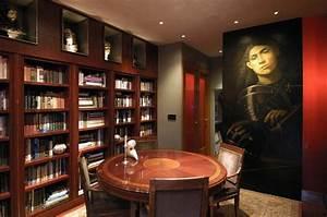 Décoration Murale Salle À Manger : salle manger moderne avec biblioth que en 25 exemples ~ Dode.kayakingforconservation.com Idées de Décoration