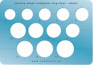 Jewelry Shape Template Ring Sizes Whole