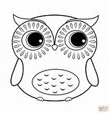 Coloring Owl Pages Baby Cute Popular sketch template