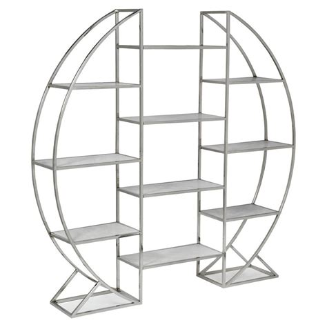 Silver Etagere by Opal Modern Stainless Steel Silver Etagere Kathy