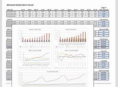 Download a free Sales Forecast Template spreadsheet