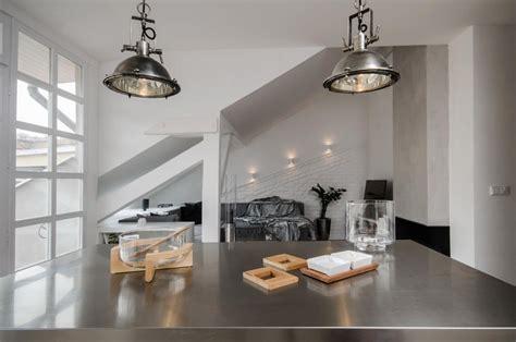 modern attic loft  grey palette  prague idesignarch interior design architecture