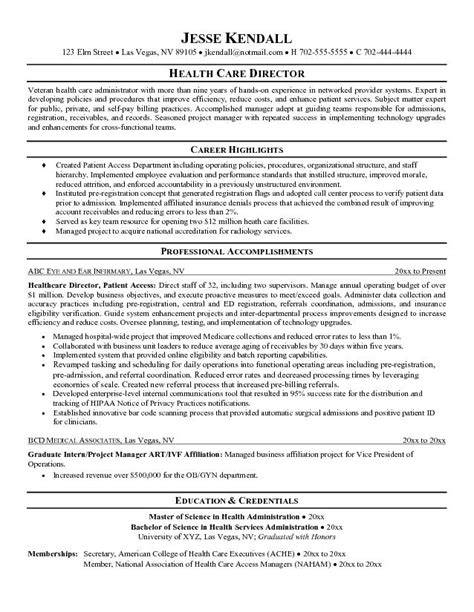 objective for healthcare management resume objective resume for healthcare