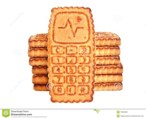cookies on phone cookies cell phone isolated stock photo image 16948950
