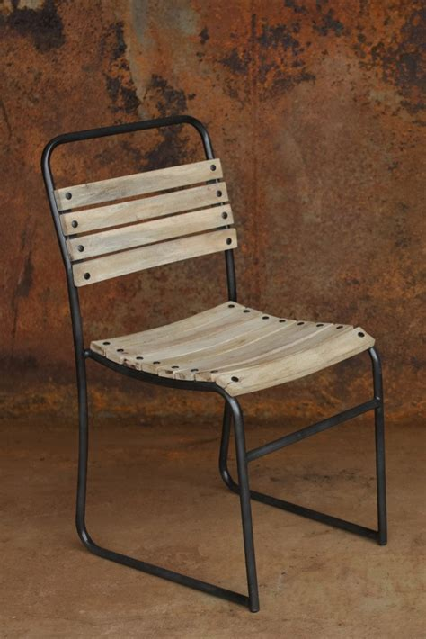 dema slatted wood and iron dining chair decorator s