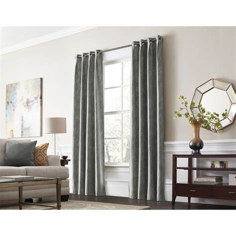 thermal drapes lowes allen roth winbourne 84 in gray polyester grommet room