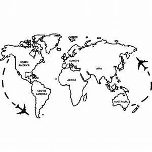 Carte Du Monde Design : sticker carte du monde ii stickers villes et voyages pays et voyages ambiance sticker ~ Teatrodelosmanantiales.com Idées de Décoration
