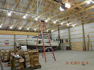 How to finish off the inside of a pole shed joy studio for Best lighting for pole barn