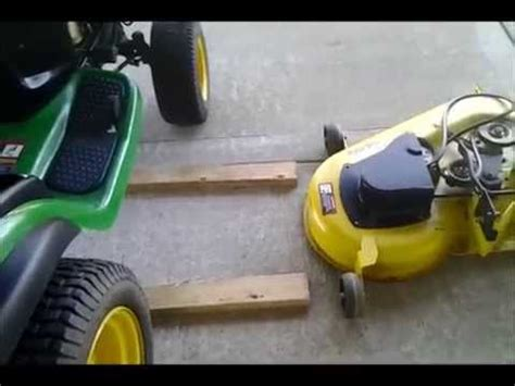 Deere Mower Deck Removal by Deere L130 Mower Deck Installation