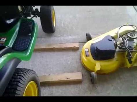 deere mower deck removal deere l130 mower deck installation