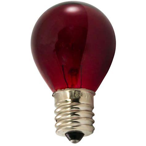 Red Light Bulbs  10 Watt S11 Intermediate Base
