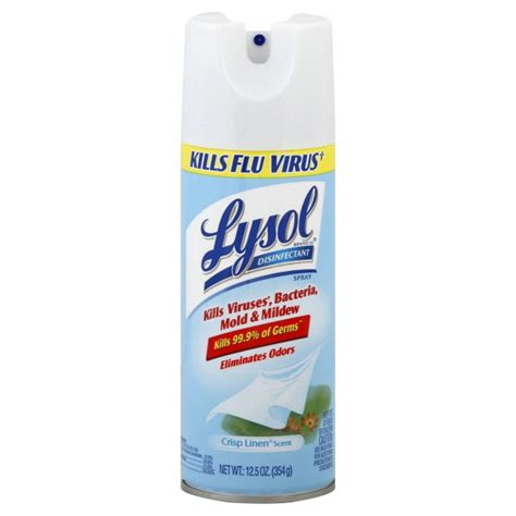 Lysol Floor Cleaner Poisoning Treatment by Lysol Disinfectant Crisp Linen Aerosol Spray