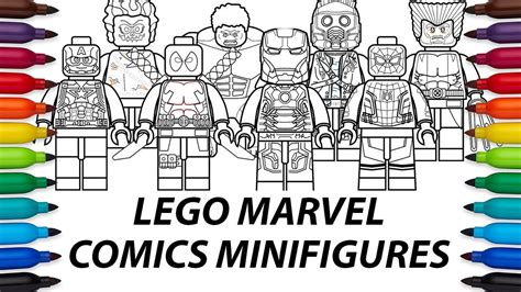 draw lego marvel comics minifigures compilation video youtube