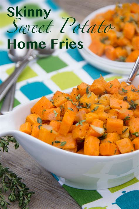 Skinny Sweet Potato Home Fries  The Scrumptious Pumpkin