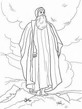 Moses Coloring Printable Bible Colouring Sea Land Promised Sheets Results sketch template