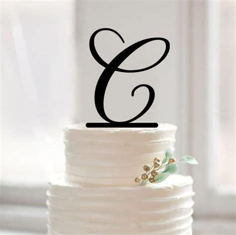 custom letter  cake topper monogram letter cake toppers gold glitter baby shower birthday